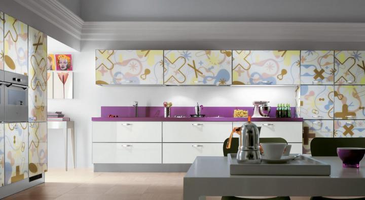 Crystal cocinas modernas de la firma scavolini for Disenador de cocinas integrales