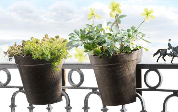 Jardines y terrazas for Macetas de pared ikea