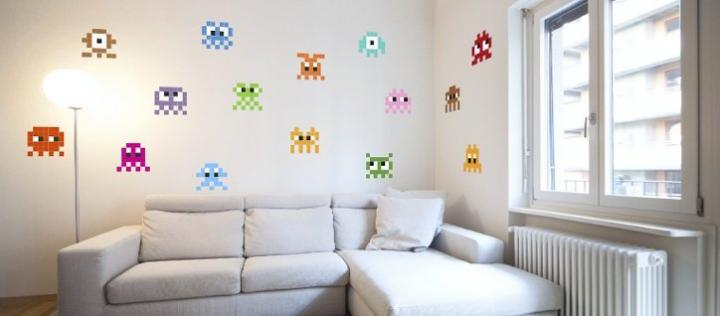 Stickaz, decora tus paredes con pixel art