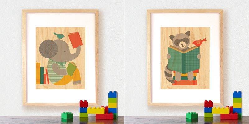 Accesorios vintage para habitaciones infantiles Cuadros para decorar habitaciones infantiles