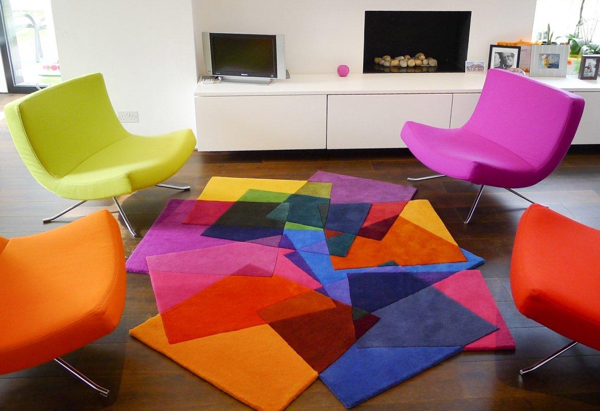 Alfombras coloridas de formas innovadoras de sonya winner for Alfombra colores