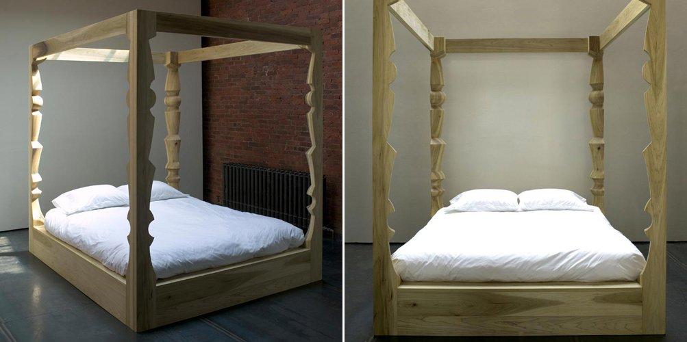 Camas con dosel de estilo moderno - Cama dosel madera ...