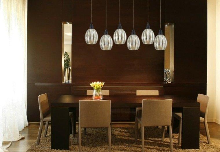Claves para iluminar un sal n comedor for Combinar lamparas salon comedor