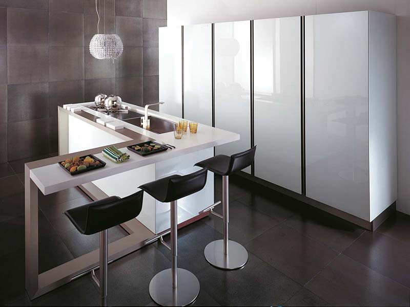 Muebles de cocina gama decor for Cocinas en l con isla
