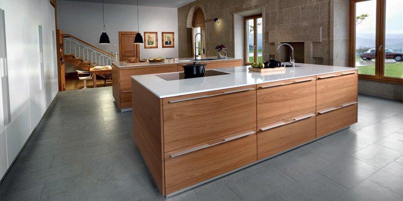 Cocina wood natura nogal de la firma santos - Cocinas color nogal ...