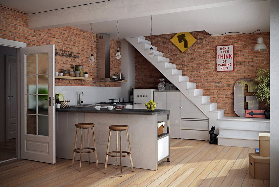 Cocinas abiertas for Open kitchen style