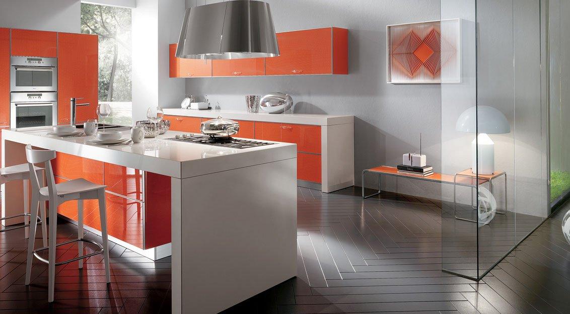 Crystal cocinas modernas de la firma scavolini for Cocinas enchapadas