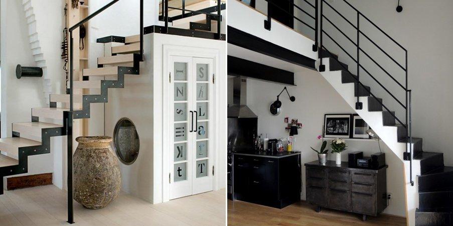 Ideas para aprovechar el espacio bajo la escalera for Repisa escalera