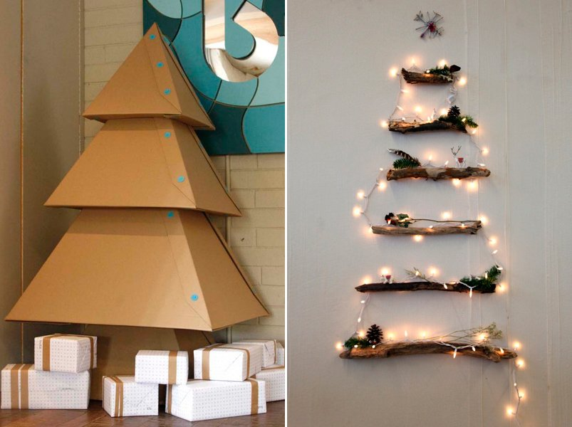 Ideas para crear nuestro rbol de navidad - Como hacer un arbol de navidad de carton ...