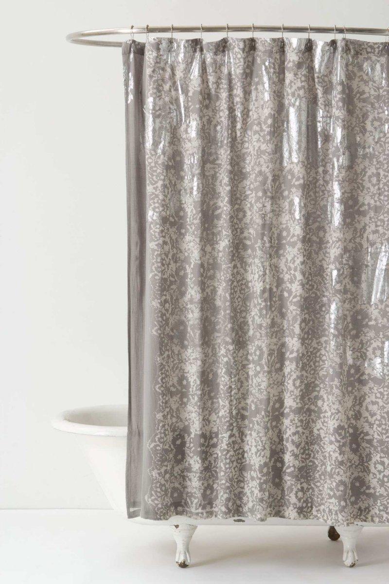 Cortinas de ducha para un cuarto de ba o rom ntico - Cortinas estilo vintage ...