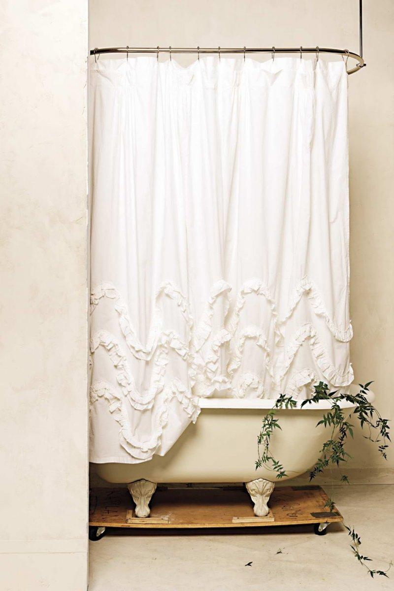 Set De Baño Romantic:Cortinas de ducha para un baño de estilo romántico BricoDecoracion