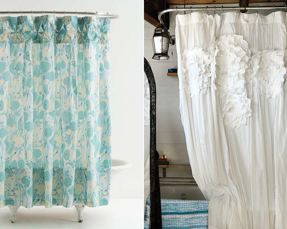 Cortina Baño Elegante:Cortinas de ducha para un baño de estilo romántico BricoDecoracion