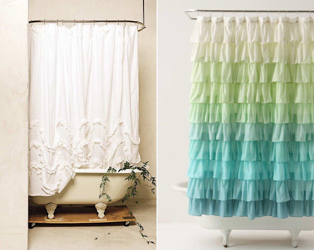 Cortinas de ducha para un ba o de estilo rom ntico for Bases para colgar cortinas