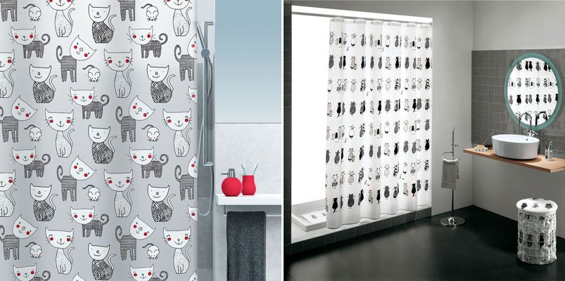 Cortinas De Baño Vintage:Cortinas originales para transformar el cuarto de baño