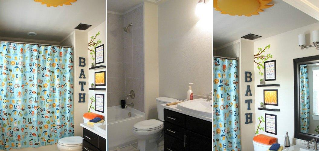 Creativo cuarto de baño para niños. BricoDecoracion.com