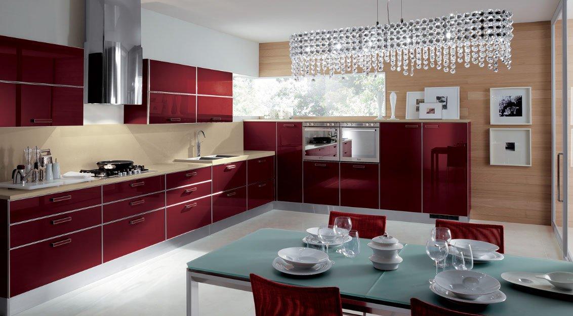 Crystal cocinas modernas de la firma scavolini for Mostrar cocinas modernas