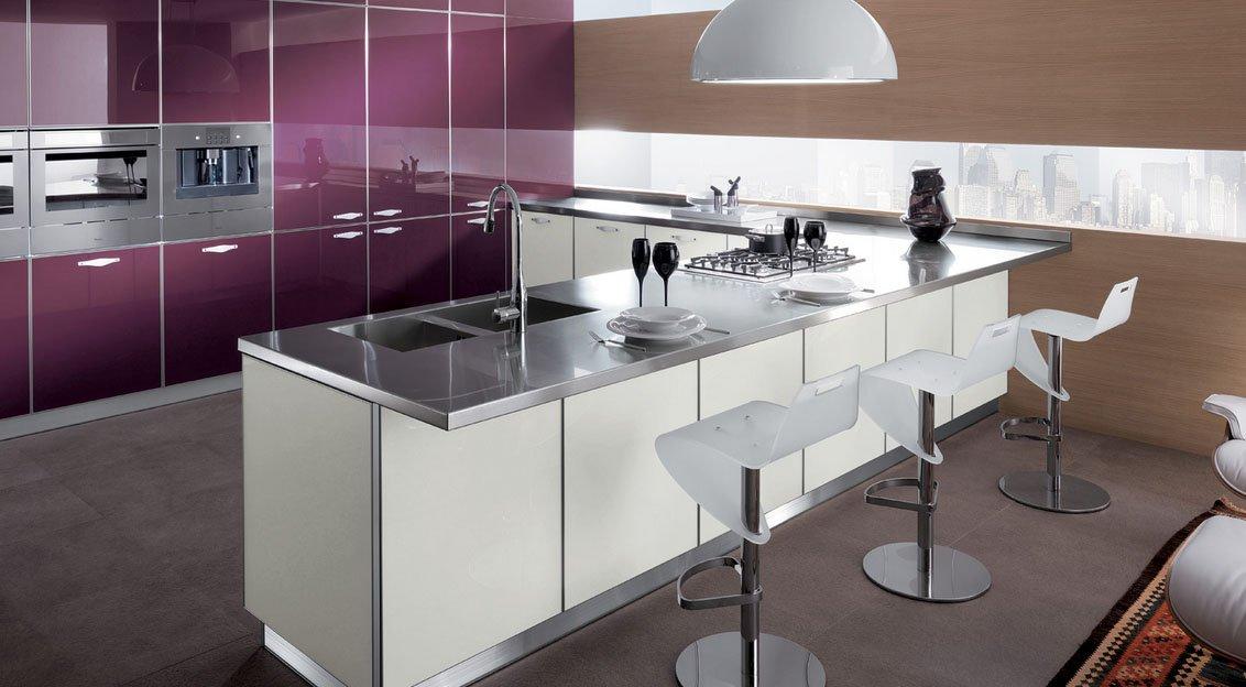 Crystal cocinas modernas de la firma scavolini for Galeria fotos cocinas integrales