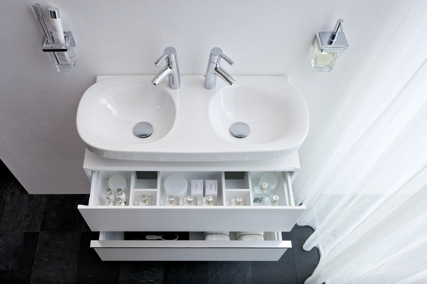 Cuartos de baño pequeños modernos Laufen. BricoDecoracion.com