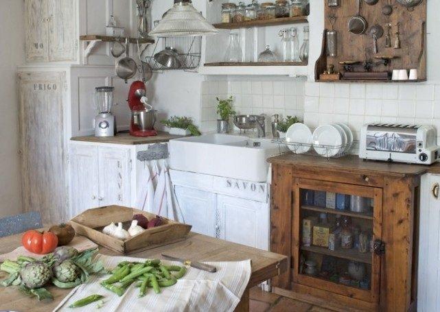 Decoraci n de cocinas r sticas - Cocinas rusticas blancas ...