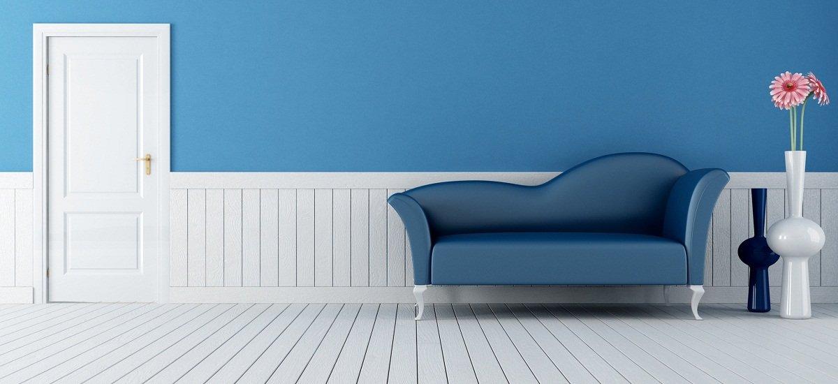 Decoraci n de interiores en azul for Decoracion petrole azul