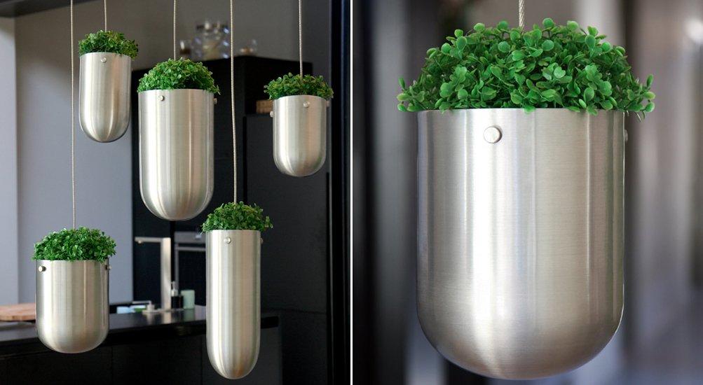Decorar con plantas con la colecci n floating garden - Soportes para macetas de interior ...