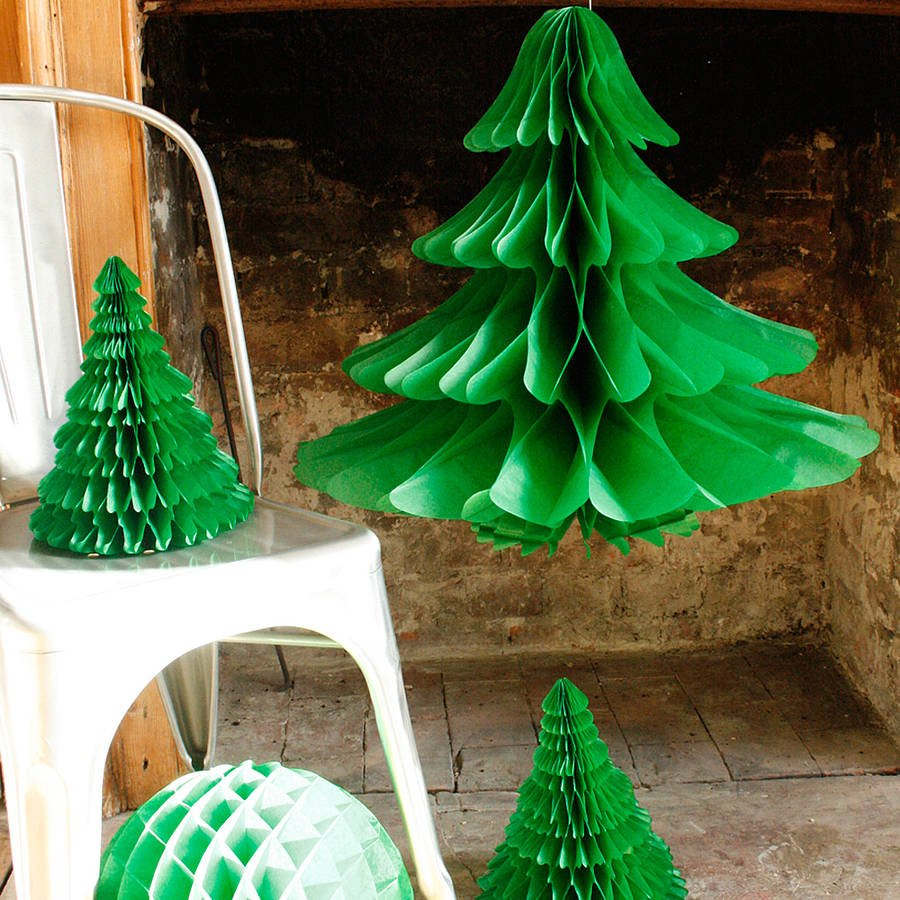 decoraciones de navidad de papel de seda decoraciones