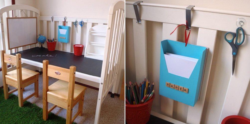 Convertir una cuna en un escritorio para ni os for Escritorios de ninos