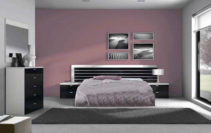 Habitaciones principales de la firma merkamueble - Dormitorio en blanco y negro ...