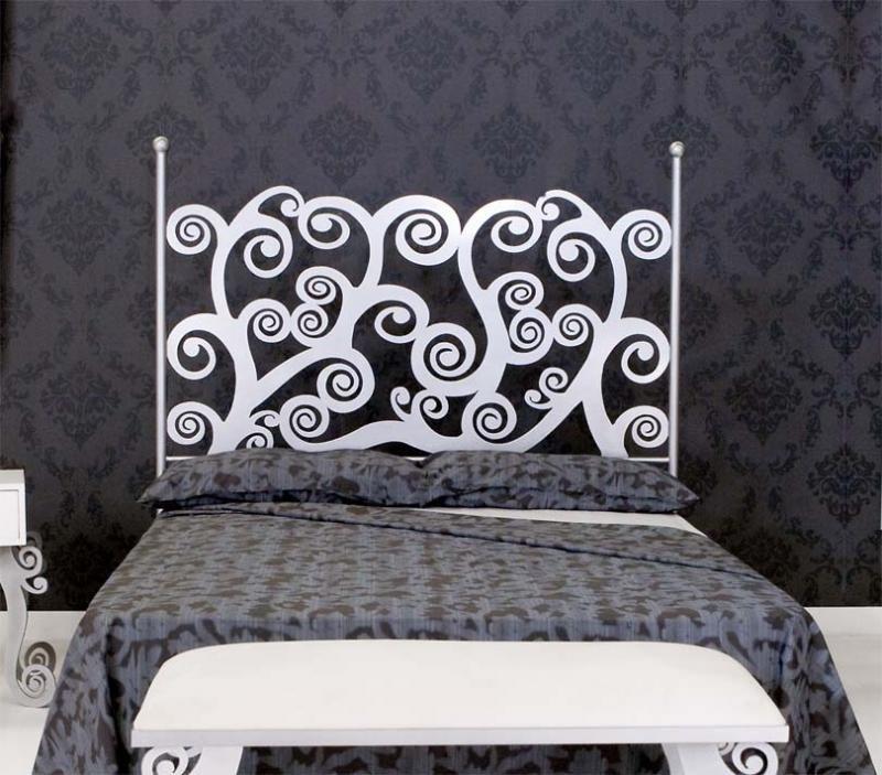Dormitorios modernos en forja - Cabeceros forja modernos ...