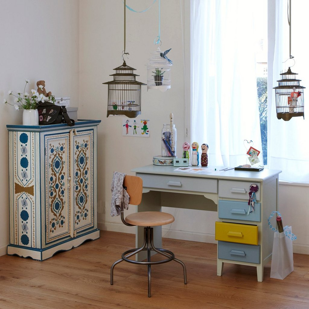 Inspiraci n de escritorios para habitaciones infantiles y - Escritorio para habitacion ...