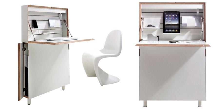 Espacio de trabajo compacto flatmate for Escritorios compactos