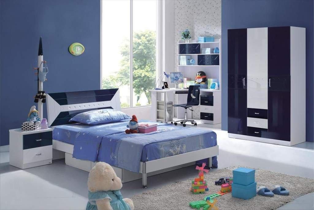 Decoraci n de interiores en azul - Habitacion juvenil chico ...
