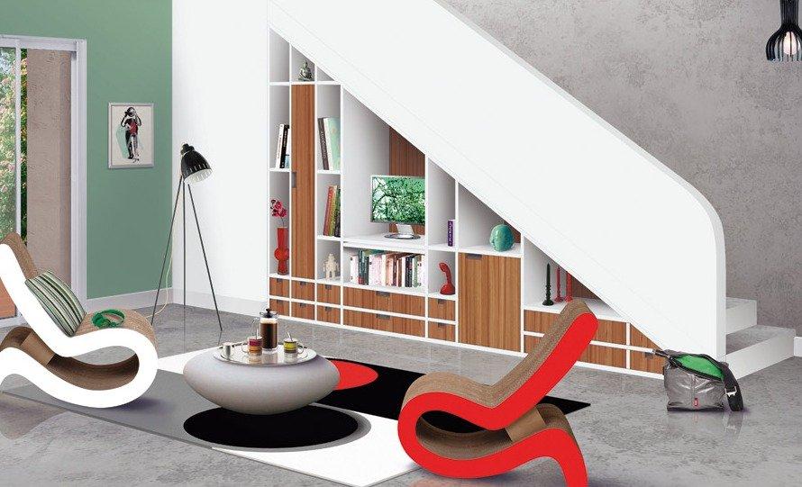 Ideas para aprovechar el espacio bajo la escalera for Ideas de escaleras