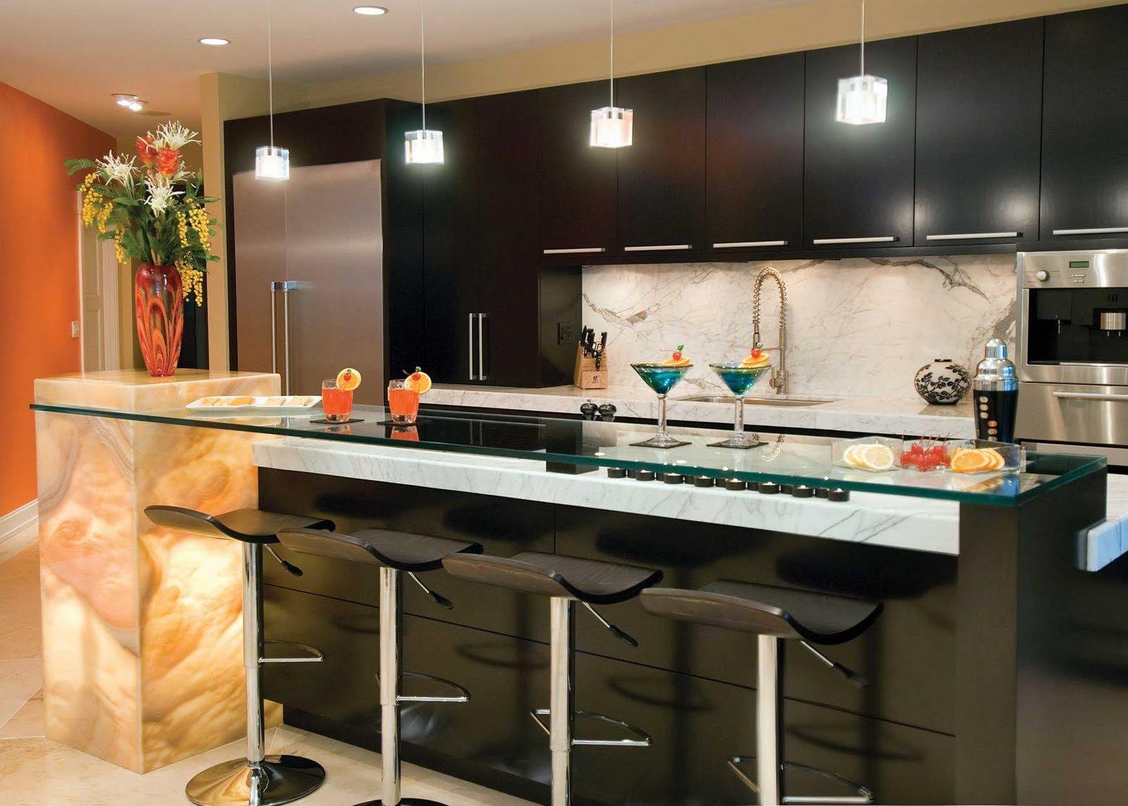 Consejos para iluminar correctamente la cocina for Home bar design ideas uk