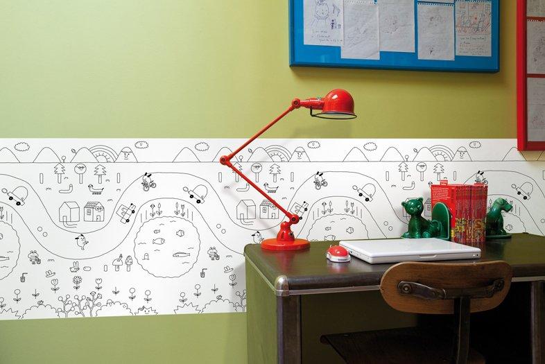 Idraw papel pintado infantil para colorear - Dibujos para paredes infantiles ...