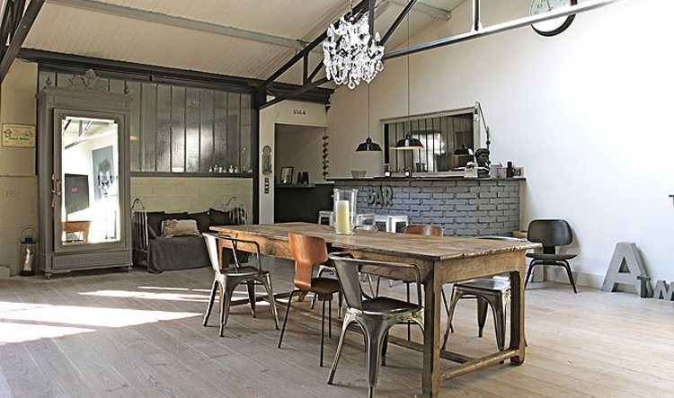 Antiguo almac n de estilo loft for Muebles industrial loft
