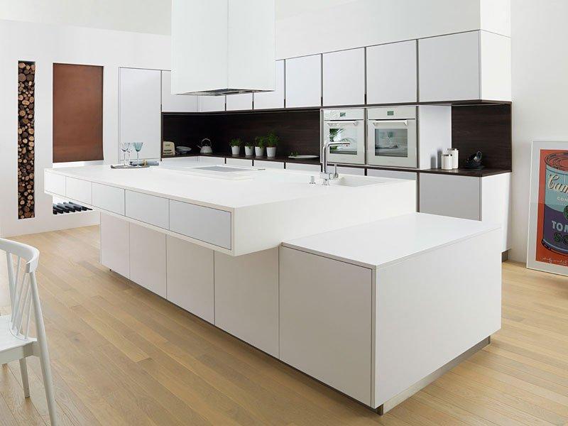 Muebles de cocina gama decor for Cocinas modernas blancas con isla