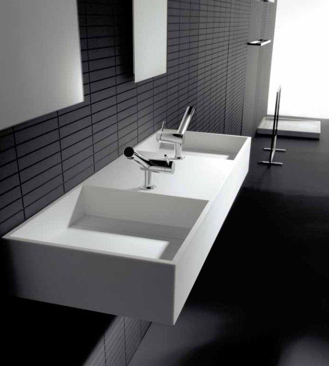 Baños Ninos Modernos:Lavabos Cosmic para baños modernos BricoDecoracioncom