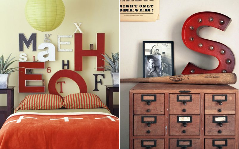Letras vintage en la decoracin BricoDecoracioncom