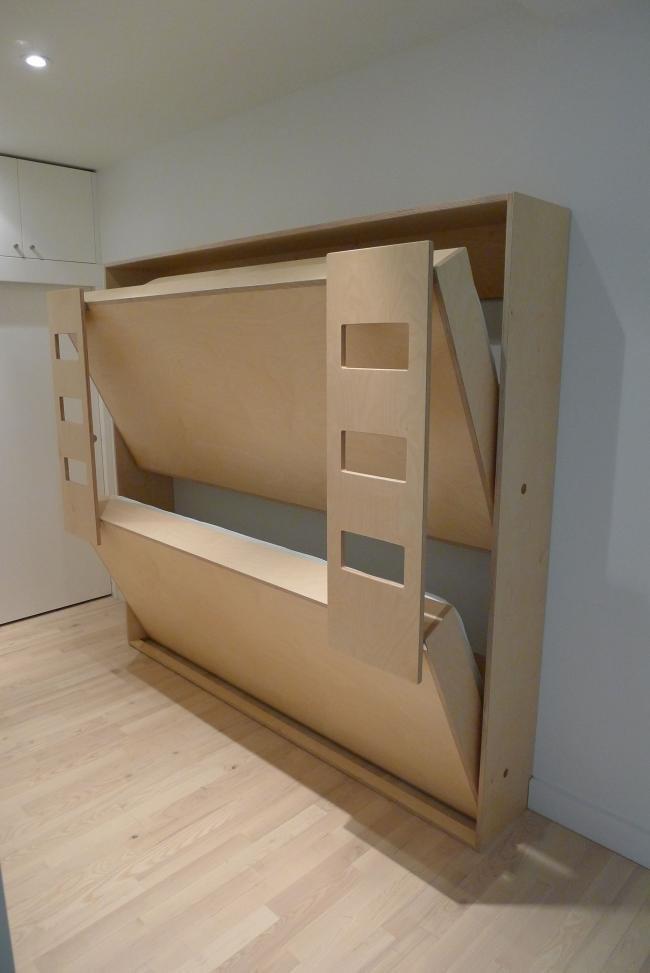 Muebles Para Habitaciones Pequeñas De Casa Kids Litera Plegable