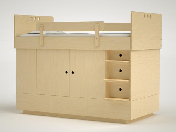 Muebles para habitaciones peque as de casa kids litera - Habitaciones infantiles pequenas ...