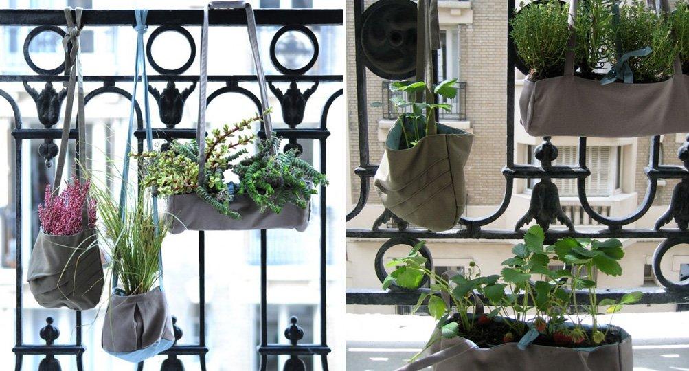 Macetas originales para terrazas peque as - Macetas en la pared ...