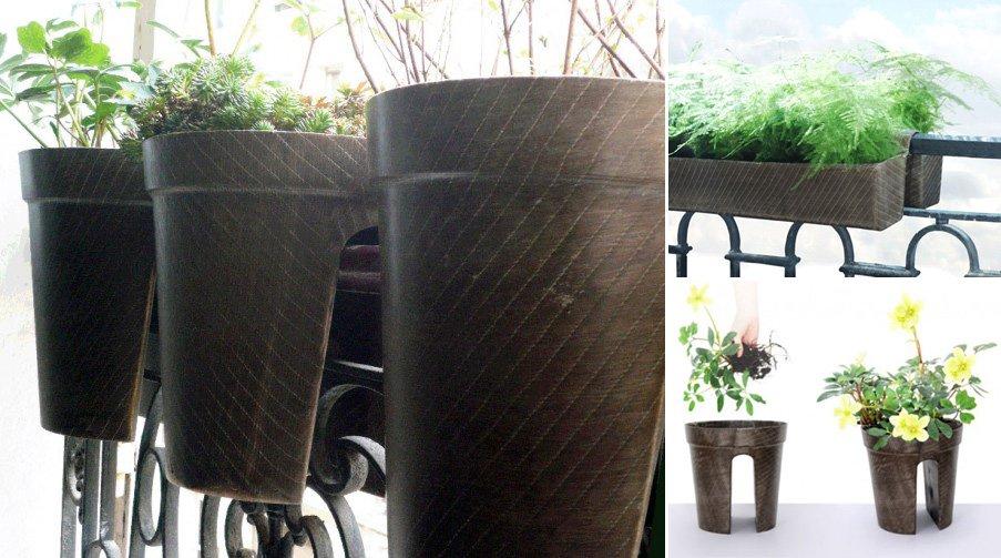 Macetas originales para terrazas peque as - Macetas para pared ...