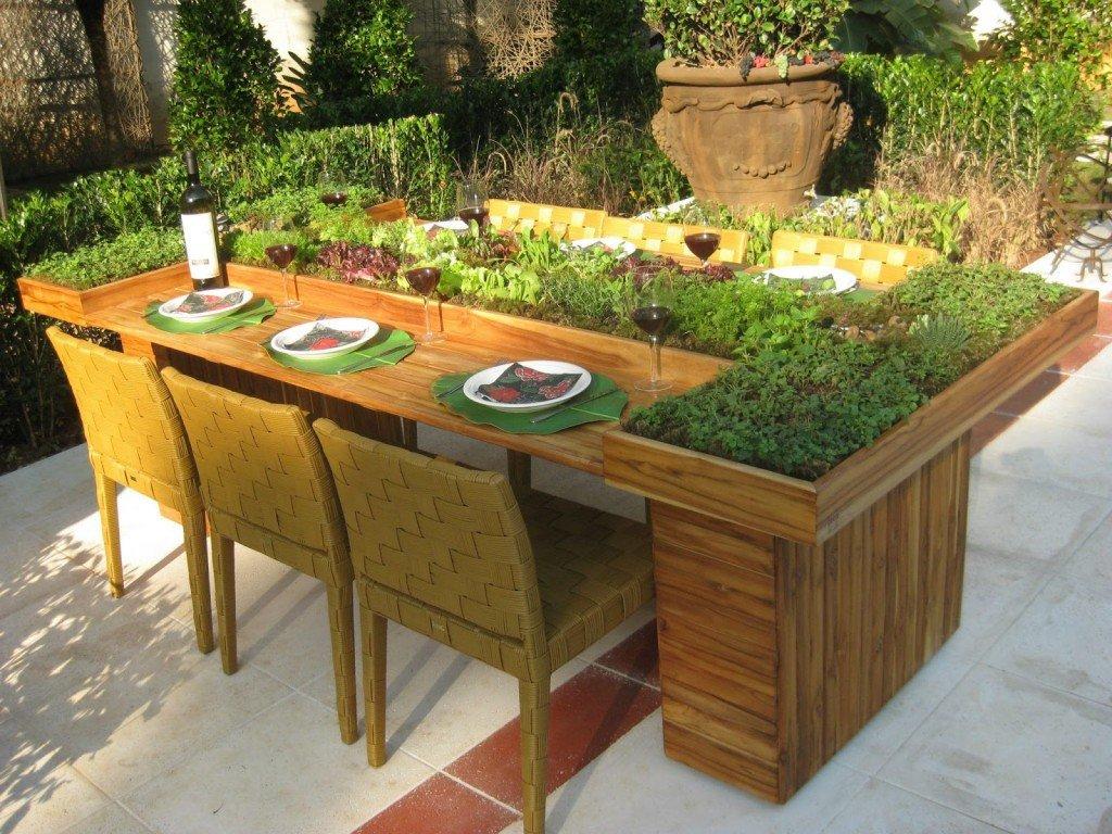 Mejora la apariencia de tu jard n con mesas de cultivo - Mesas para jardin ...