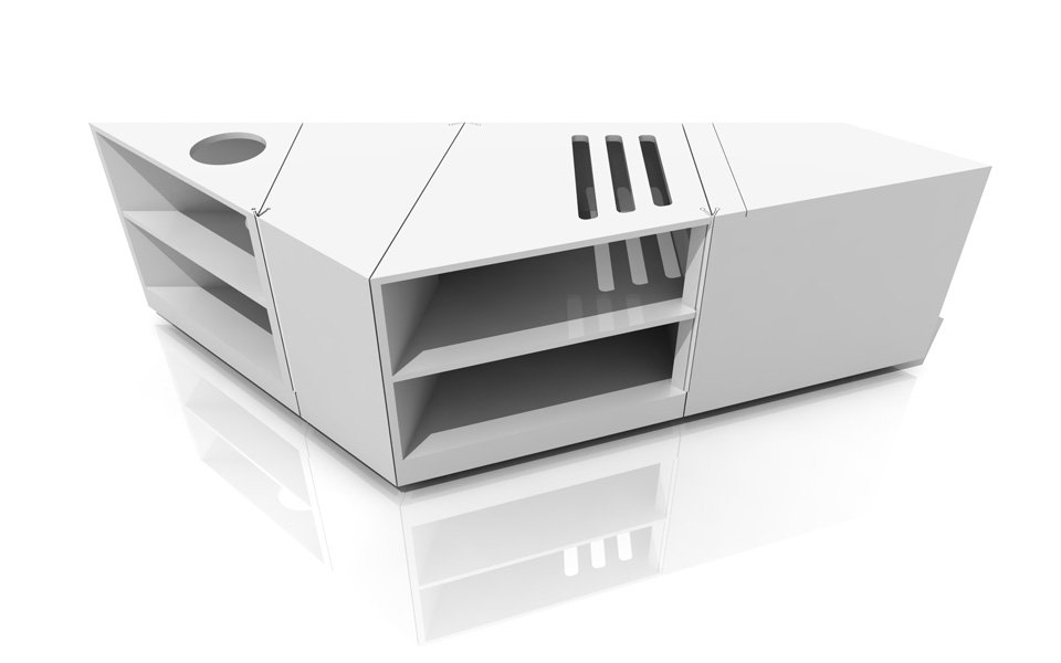mesa de centro de diseo verstil y modular