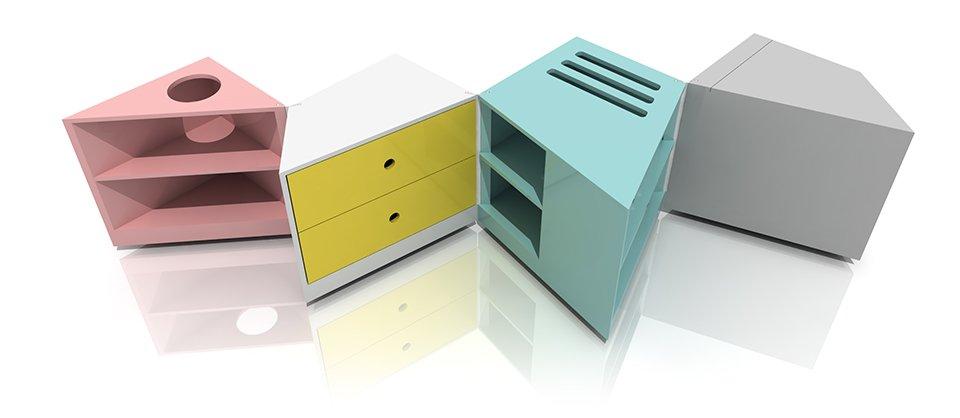 mesa de centro de dise o vers til y modular. Black Bedroom Furniture Sets. Home Design Ideas