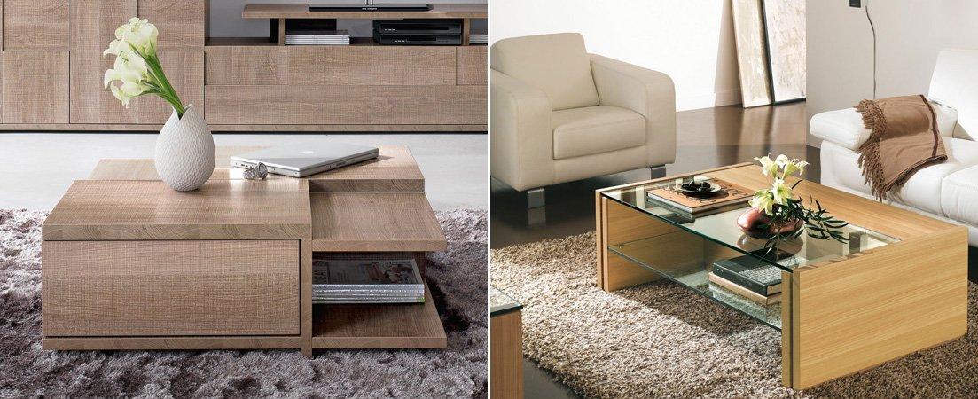 Mesas bajas para el sal n de la firma gautier for Mesas de salon blancas