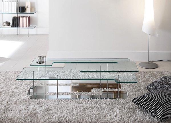 Mesas de centro de cristal modernas - Mesas de centro en vidrio ...