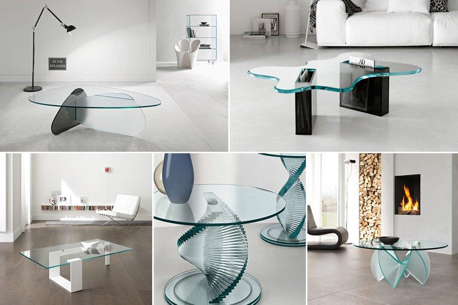 Mesas de centro de cristal modernas - Mesas de centro minimalistas ...
