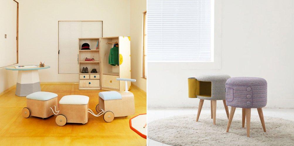 Muebles infantiles del dise ador kam kam for Pegatinas infantiles para muebles